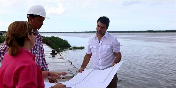 Inician obras del malecón del río Magdalena