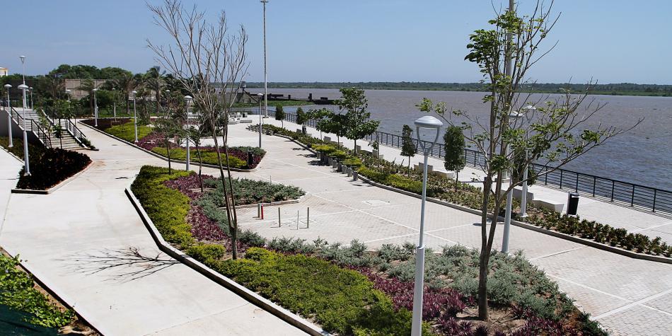 Se inaugura el primer tramo del malecón del río Magdalena